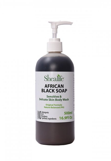 African Black Soap, Unscented, Sensitive & Delicate Skin Body Wash, Original Formula, 500ml & 250ml