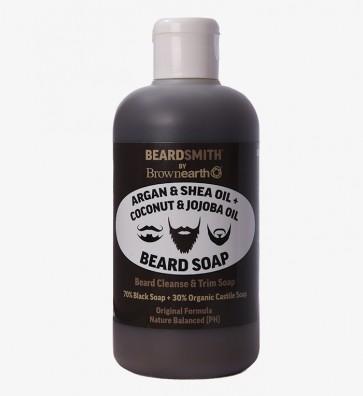 ARGAN & SHEA BUTTER+ COCONUT & JOJOBA OIL,  BEARD SOAP, Beard Cleanse & Shampoo, Trim Soap.