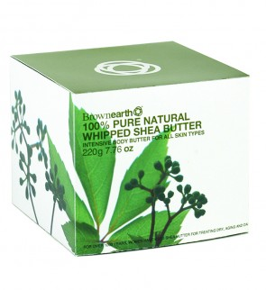 100% Whipped Pure Natural Shea Butter, 220g