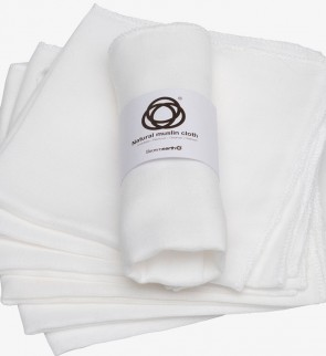 Muslin Face Cloth, Gentle Wash, Cleanse, Remove Make Up and Exfoliate, 100% Natural Egyptian Cotton. X 6 Units